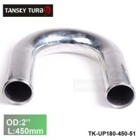 "Tansky 2pcs/unit 51mm 2"" 180 Degree Length 450 mm Aluminum Turbo Intercooler Pipe Straight Piping Tube Tubing TK-UP180-450-51"