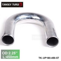 "Tansky 2pcs/unit 57mm 2.25"" 180 Degree Length 450 mm Aluminum Turbo Intercooler Pipe Straight Piping Tube Tubing TK-UP180-450-57"