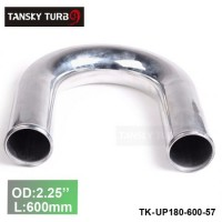 "Tansky 2pcs/unit 57mm 2.25"" 180 Degree Length 600 mm Aluminum Turbo Intercooler Pipe Straight Piping Tube Tubing TK-UP180-600-57"