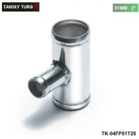 "TANSKY - Universal BOV T-pipe 51mm 2"" outlet 25mm Blow Off Valve T Joint Adaptor TK-04FP51T25"