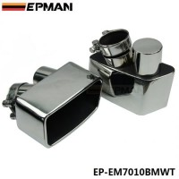 EPMAN Chrome 304 Stainless Steel Exhaust Muffler Tip For BMW GT 535 F07 EP-EM7010BMWT