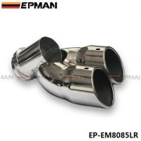 EPMAN 1 Pc Chrome Stainless Steel Exhaust Muffler Tip For Land Rover 07-13 Freelander2 diesel EP-EM8085LR