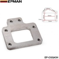 EPMAN - T2 T25 T28 GT28 Stainless Steel Weld On Turbo Manifold Exhaust Flange For Nissan EP-CGQ43H
