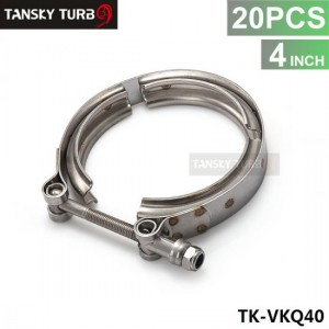 """Tansky - 20PCS Universal 4""""  Stainless Steel Turbo V Band Clamp For Turbo Exhaust Downpipe TK-VKQ40"""