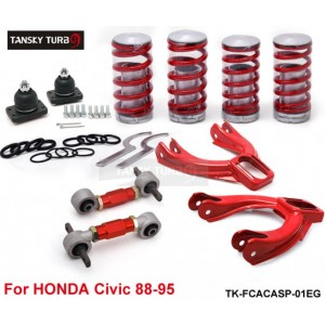 Tansky - Lowering Coil Springs+ Front camber kits+ Rear Lower Control Arms (Fits For Honda Civic 88-95) TK-FCACASP-01EG