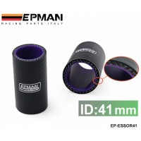 "EPMAN 1.61"" 41mm 3-Ply Silicone Intercooler Turbo Intake Pipe Coupler Hose BLACK EP-ESS0R41"