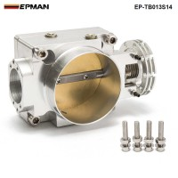 EPMAN - Throttle Body 70MM For Nissan Silvia SR20 S13 S14 S15 SR20DET 200SX 240SX Silver EP-TB013S14