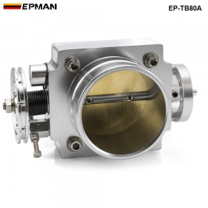 NEW 80mm THROTTLE BODY silver for RB25/2JZ/EVO 1-6/ petrol 4.8/CRUSIER 4.5L intake manifold ect-78mm*78mm EP-TB80A