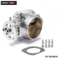 TANSKY - Performance Billet 70mm Aluminum Throttle Body For Honda Civic B16 B18 Dohc SL Intake Manifold Silver TK-TB70B16