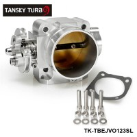 TANSKY - For Mitsubishi Lancer EVO 1 2 3 4G63 Intake Manifold Throttle Body 70mm 92-95 Sliver TK-TBEJVO123SL