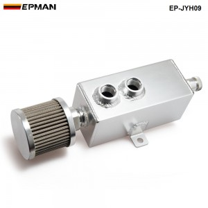 Universal Car 1L Aluminum Oil Catch Can Tank Fuel Tank With Breather & Filter Drain Tap EP-JYH09