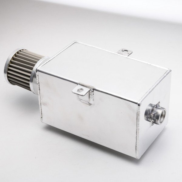 EPMAN 3L Aluminum Universal Oil Catch Can Tank With Breather & Drain Tap 3LT Baffled EP-JYH093