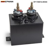 EPMAN 3L Billet Surge Tank- Dual Submerged  WITH 044 Fuel Pump High pressure EP-YX6012-2K044