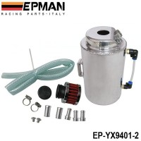 EPMAN UNIVERSAL 2L ALUMINIUM ALLOY OIL CATCH CAN TANK WITH BREATHER FILTER EP-YX9401-2