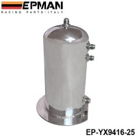 EPMAN 2.5 Litre Fuel Surge Catch Can Aluminium Polish Tank EP-YX9416-25