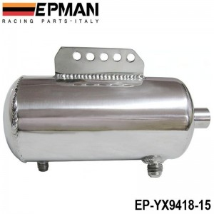 EPMAN Universal Polished Alloy Aluminum 1.5L Fuel Surge Tank AN fittings mirror polished EP-YX9418-15