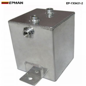 EPMAN UNIVERSAL POLISHED ALLOY ALUMINUM 2L FUEL WATER OIL SURGE AN6 Fittings / BREATHER TANK EP-YX9431-2