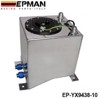 EPMAN 10L Aluminium Surge tank mirror polish Fuel cell foam inside, with sensor EP-YX9438-10