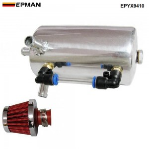 EPMAN UNIVERSAL BREATHER TANK&OIL CATCH CAN TANK WITH BREATHER FILTER ,0.5L EPYX9410