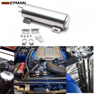 """EPMAN Polished Stainless steel Radiator Overflow Tank Bottle Catch Can 2"""" x 13"""", 3"""" x 9"""",3"""" x 10""""  Car Modification Cooling EPYX9610 EPYX9611 EPYX9612"""