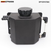 EPMAN Universal 1L Alloy Aluminium Engine Oil Catch Can Breather Tank Radiator Overflow Tank EPYXFST003