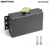 EPMAN Aluminum Coolant Expansion Fill Fuel Tank For Honda Civic 240SX,WRX EPYXFST004