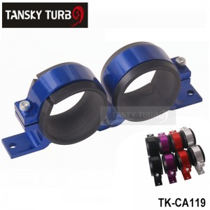 Tansky - Anodised Dual Double &Twin Fuel Pump Brackets fit for Bosch EFI & Aeroflowpumps  Blue,Red,Black,Purple,Silver TK-CA119