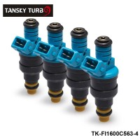 TANSKY-4PCS/LOT  New High Performance Low Impedance 1600cc 160LB EV1 Top Fuel Injectors OEM:0280150563 TK-FI1600C563-4