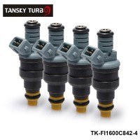 TANSKY -4pcs/lot New High Performance Low Impedance 1600cc 160LB EV1 Top Fuel Injectors OEM:0280150842 TK-FI1600C842-4