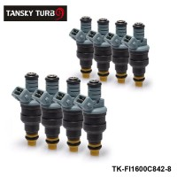 TANSKY -8pcs/lot  New High Performance Low Impedance 1600cc 160LB EV1 Top Fuel Injectors OEM:0280150842 For Audi Chevy TK-FI1600C842-8