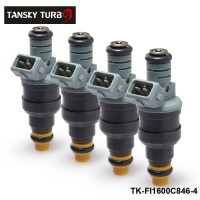 TANSKY - 4 pcs New High Performance Low Impedance 1600cc 160LB EV1 Top Fuel Injectors OEM:0280150846 TK-FI1600C846-4