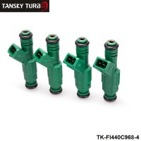 "TANSKY -4PCS/LOT High flow 0 280 155 968 fuel injector 440cc ""Green Giant ""For Volov fuel injector 0280155968 TK-FI440C968-4"