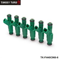 "TANSKY -6PCS/LOT  High flow 0 280 155 968 fuel injector 440cc ""Green Giant "" For Volov fuel injector 0280155968 TK-FI440C968-6"
