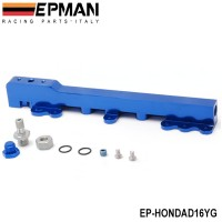 EPMAN Racing-High Quality High Volume aluminum Fuel Rail For For Honda D15B7 D15B8 D16A6 D16Z6 EP-HONDAD16YG