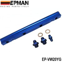 EPMAN For VW Audi 20V 1.8T Turbo Aluminium Billet Top Feed Injector Fuel Rail Turbo Kit Blue High Quality EP-VW20YG