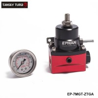 EPMAN - Sport Adjustable Fuel Pressure Regulator Kit W/ Oil Gauge EP-7MGT-ZTGA