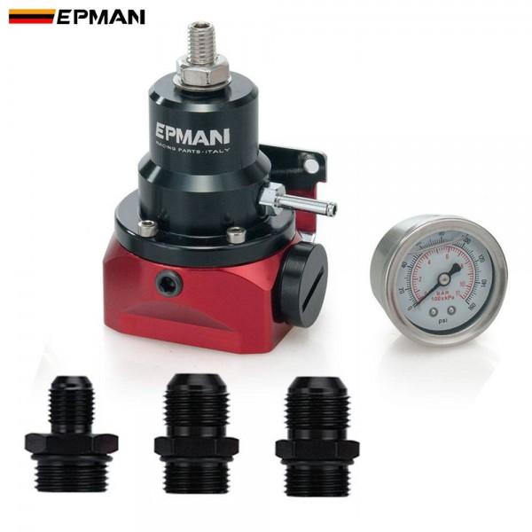 EPMAN Fuel Pressure Regulator with Gauge AN10 Feed & AN6 Return Line & AN10 End Cap EPFPR717