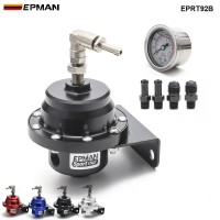 Epman Racing Universal Adjustable Fuel Pressure Regulator L type With Original Gauge And Instructions EPRT92B