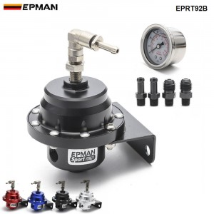 Epman Racing Universal Adjustable Fuel Pressure Regulator L type With Original Gauge And Instructions EPRT92B