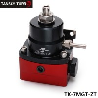 Tansky - Universal - 6 An Efi Fuel Injection Pressure Regulator 0-150PSI Black-Red TK-7MGT-ZT
