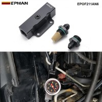 EPMAN Performance Universal Inline AN6 Fuel Filter Billet Aluminium Black 1/8 NPT Port EPOF211AN6