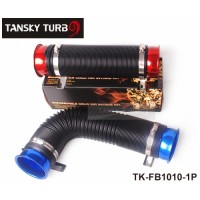Tansky - Universal Turbo Multi Flexible Air Intake Pipe 76mm Red/Blue/Silver TK-FB1010-1P