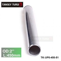 "Tansky 2pcs/unit 51mm 2"" Straight Length 450 mm Aluminum Turbo Intercooler Pipe Straight Piping Tube Tubing TK-UP0-450-51"