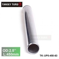 "Tansky 2pcs/unit 63mm 2.5"" Straight Length 450 mm Aluminum Turbo Intercooler Pipe Straight Piping Tube Tubing TK-UP0-450-63"