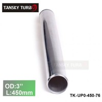 "Tansky 2pcs/unit 76mm 3"" Straight Length 450 mm Aluminum Turbo Intercooler Pipe Straight Piping Tube Tubing TK-UP0-450-76"