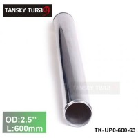"Tansky 2pcs/unit 63mm 2.5"" Straight Length 600 mm Aluminum Turbo Intercooler Pipe Straight Piping Tube Tubing TK-UP0-600-63"