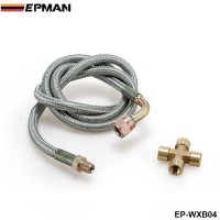 "EPMAN -Braided Stainless Steel 36"" T25/T28 Turbo Oil Inlet Feed Line+Fitting For Mazda EP-WXB04"