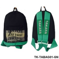 Racing Green Harness Shoulder Straps JDM Bride Racing Backpack Bag With Bride Seat Fabric TK-TABAG01-GN