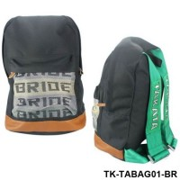 Bride JDM Racing Shoulder bag Laptop Bag Backpack With Green/Brown Racing Harness TK-TABAG01-BR
