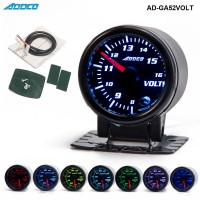 "Car Auto 12V 52mm/2"" 7 Colors Universal Voltmeter Volt Gauge LED With Sensor and Holder AD-GA52VOLT"